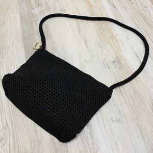 The Sak Classic Crochet Black Shoulder Bag